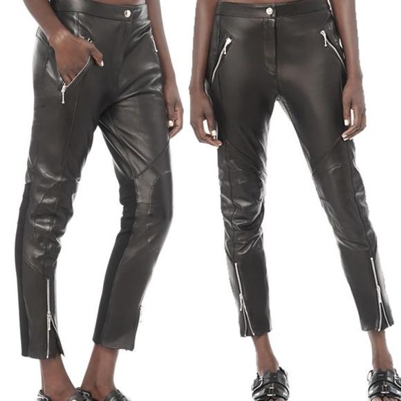 136bc00e954e Alexander Wang Leather Moto Pants